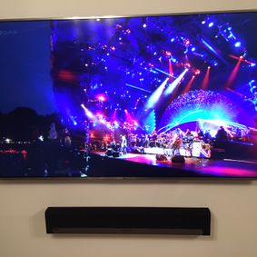 Wall mounted tv by Clear Line Aerials