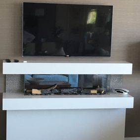 Television above unit