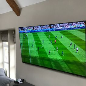 Large TV wall mounted